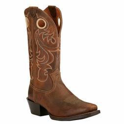 """Ariat 10017365 Sport Wide Square Toe 13"""" Tan Pull On Cowboy"""
