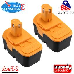 2 Pack 18V 2.0Ah Compact NiCd Battery For Ryobi One Plus P10