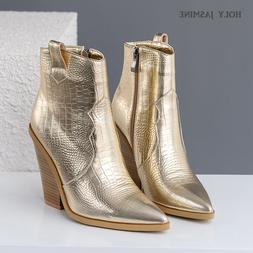 2019 Snake Print Ankle <font><b>Boots</b></font> for Women A