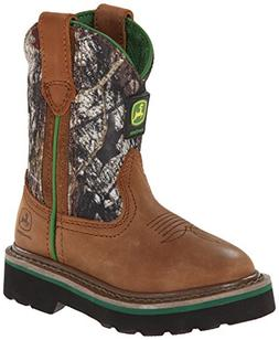 John Deere 2188 Western Boot ,Tan/Camouflage,10 M US Toddler