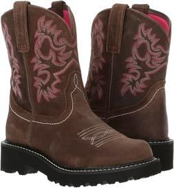 Ariat 244029 Womens Fatbaby Leather Western Boots Dark Barle