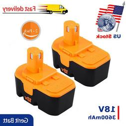 2X3600mAh Replace for Ryobi 18V Battery P100 P101 ONE+ ABP18