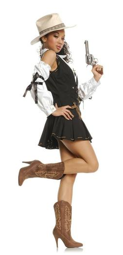 Brown Cowboy Cowgirl Western Sexy Rodeo Halloween Costume He