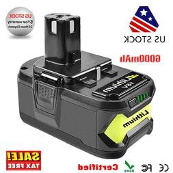 6.0Ah 18 VOLT P108 for 18V RYOBI ONE PLUS Lithium-Ion High C