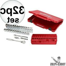 Milwaukee Ratchet Socket Tool Set 3/8 in. Drive Portable Har