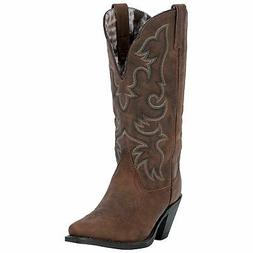 Laredo Access Ladies Mahogany Leather Boots 7.5 M
