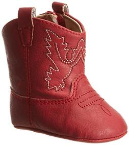 Baby Deer Baby Western Boot, Red, 1 M US Infant