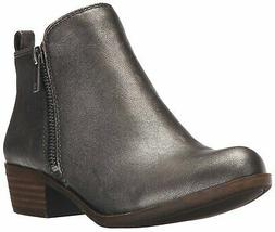 Lucky Brand Women's Basel Boot, Pewter, 7 M US