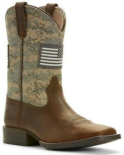 Ariat Boys' Patriot American Flag Western Boot Wide Square T