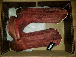 Brand new Cinch, size  6 women/girl Red all leather  cowboy