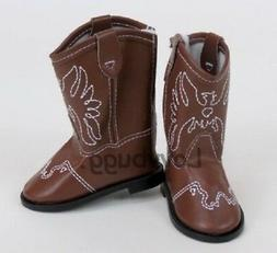 Brown Western Cowgirl Cowboy Boots for American Girl 18 inch