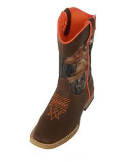 Double Barrel Toddler-Boys' Buckshot Side Zipper Cowboy Boot