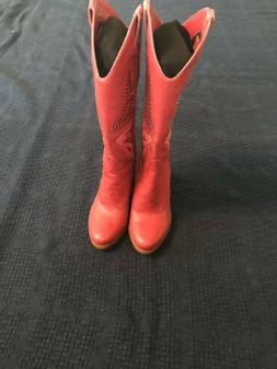 67028b3d53c Jessica Simpson Caralee Chili Pepper Red Leather Cowboy Boot