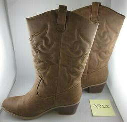 West Blvd Chestnut Miami Cowboy Boots, Size: 9
