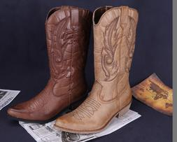 Classic Embroidered Western Cowboy Boots for Women Leather S