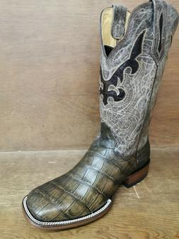 CLEARANCE Men's Genuine American Alligator Cowboy Boots Broa