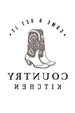Country Kitchen - Cowboy Boots on White