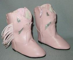 Cowboy Boots PINK ~ for Horsman Toddlers & Walkers ~ size 10