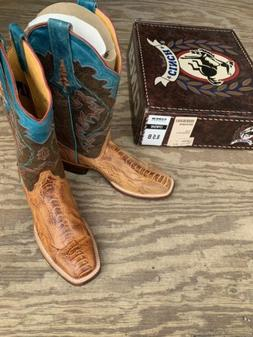 Cinch Cowboy Boots Womans 8.5 B NEW!  Ostrich Leg Tan CFW540