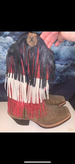 twisted x cowboy boots , women , outdoor boots, size 8, neve