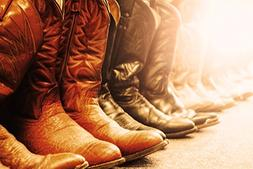 cowboys boots signed print master
