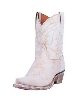 "Dan Post Western Boots Womens Standing Room Only 8"" White DP"