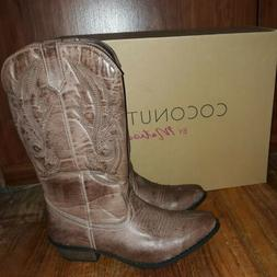 Coconuts By Matisse Gaucho Brown 7M Cowboy Boots Women NEW I