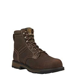 "Ariat Men's Groundbreaker 6"" H2O Steel Toe Work Boot, Dark B"