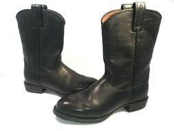 heritage 14501 black leather cowboy boots womens