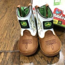 John Deere Infant Girl's Baby Cowboy Boots Johnny Poppers