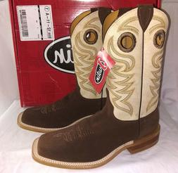 Justin Cowboy Boots BR725 9 1/2 D New in box