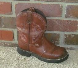 Justin Gypsy L9914 Leather Cowboy Boots Brown Women's Size 8