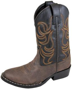 Western Cowboy- Brown Sizes 3-8 Toddler Smoky Mountain Boots NEW