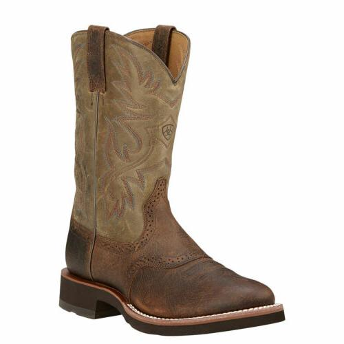 """Ariat 10002559 Heritage Crepe Rubber Sole 11"""" Tan Pull On Co"""