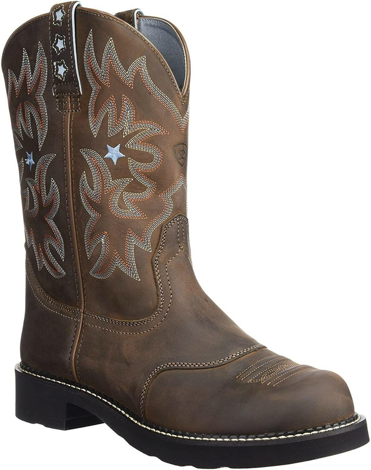 Ariat 185454 Womens Probaby Leather Western Boots Brown