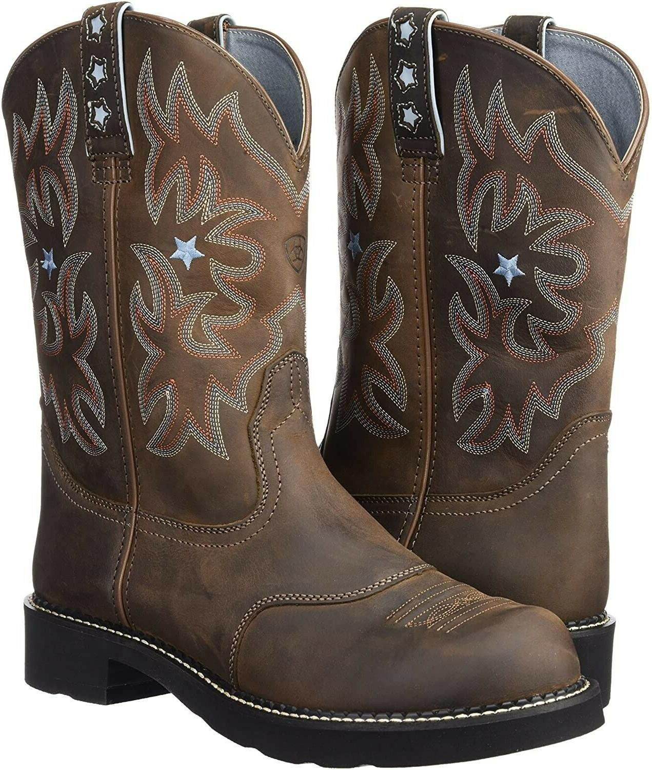 185454 womens probaby leather western cowboy boots