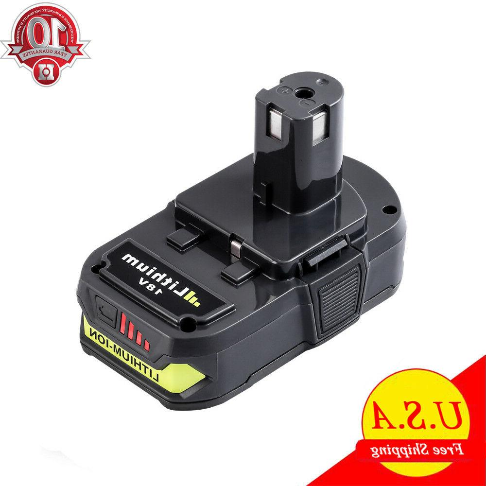 2x For P108 Ryobi 18V One+ Plus Lithium High Capacity Battery P104 P102  4 0Ah TB