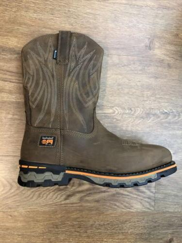 Timberland Square Alloy Workboot Brown Size NWOB