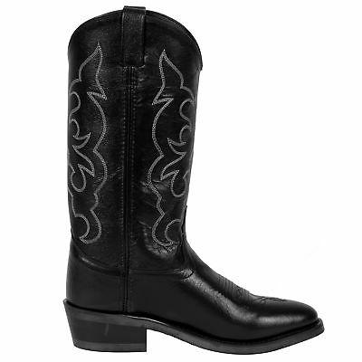 Old Black Round Toe Boots