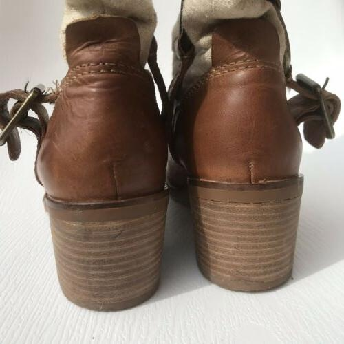 Lucky Brand Brown Boxer Bootie 5 Western Ankle