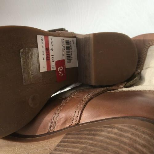 Lucky Brand Leather Boxer 5 Ankle Boot