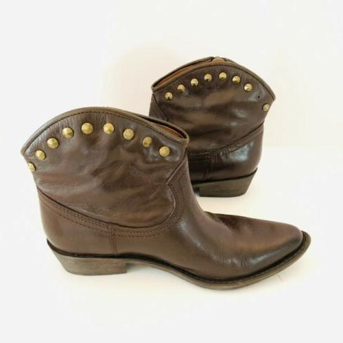 Lucky Zip Studded Ankle Cowboy Cicily