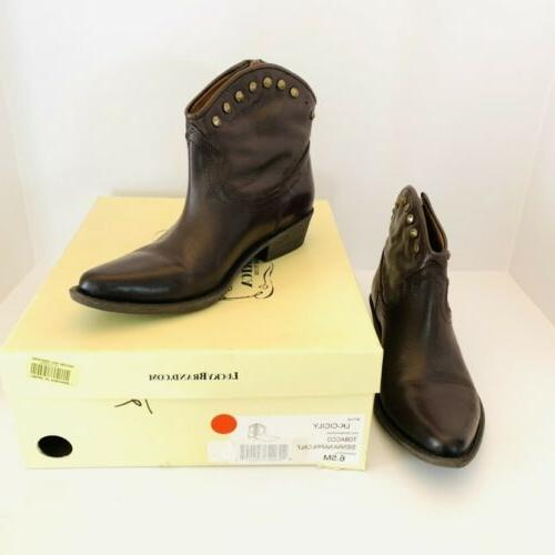 Lucky Leather Zip Boots Size Cicily