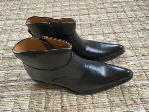 Climate Black Leather Boots