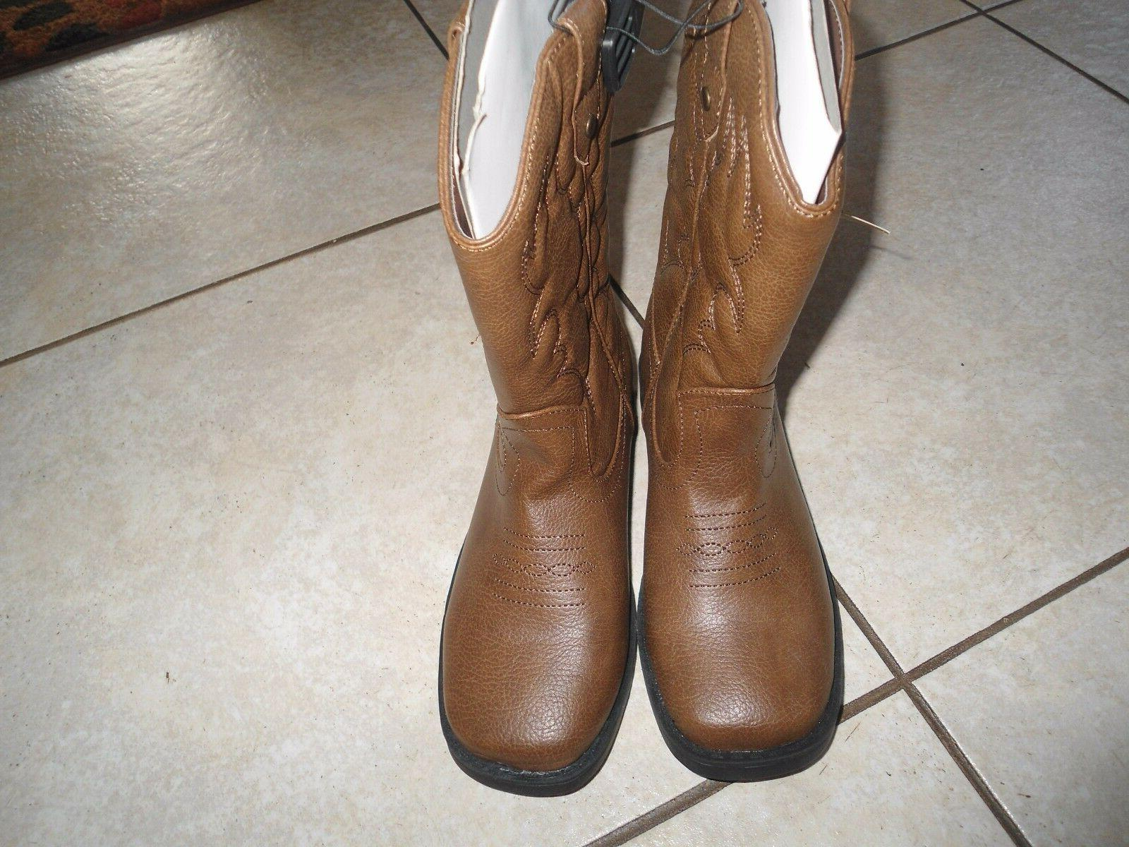 faded boots girls boys size 3 western