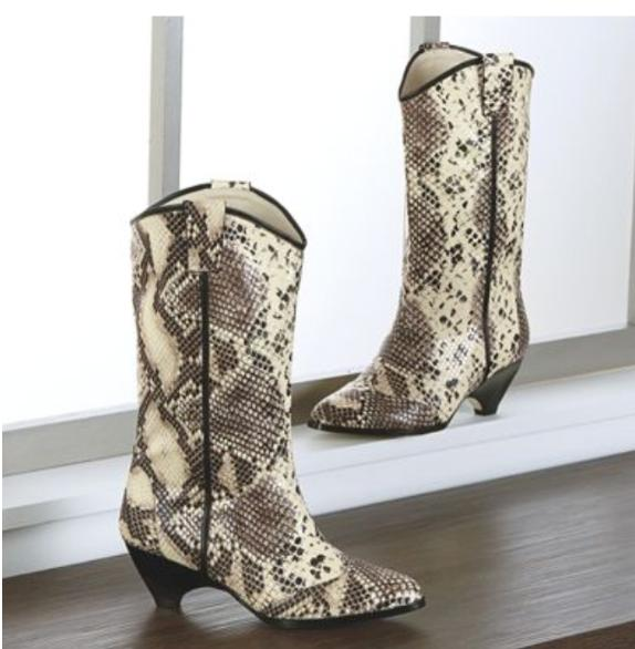 elkiv snake pattern boots country western cowboy