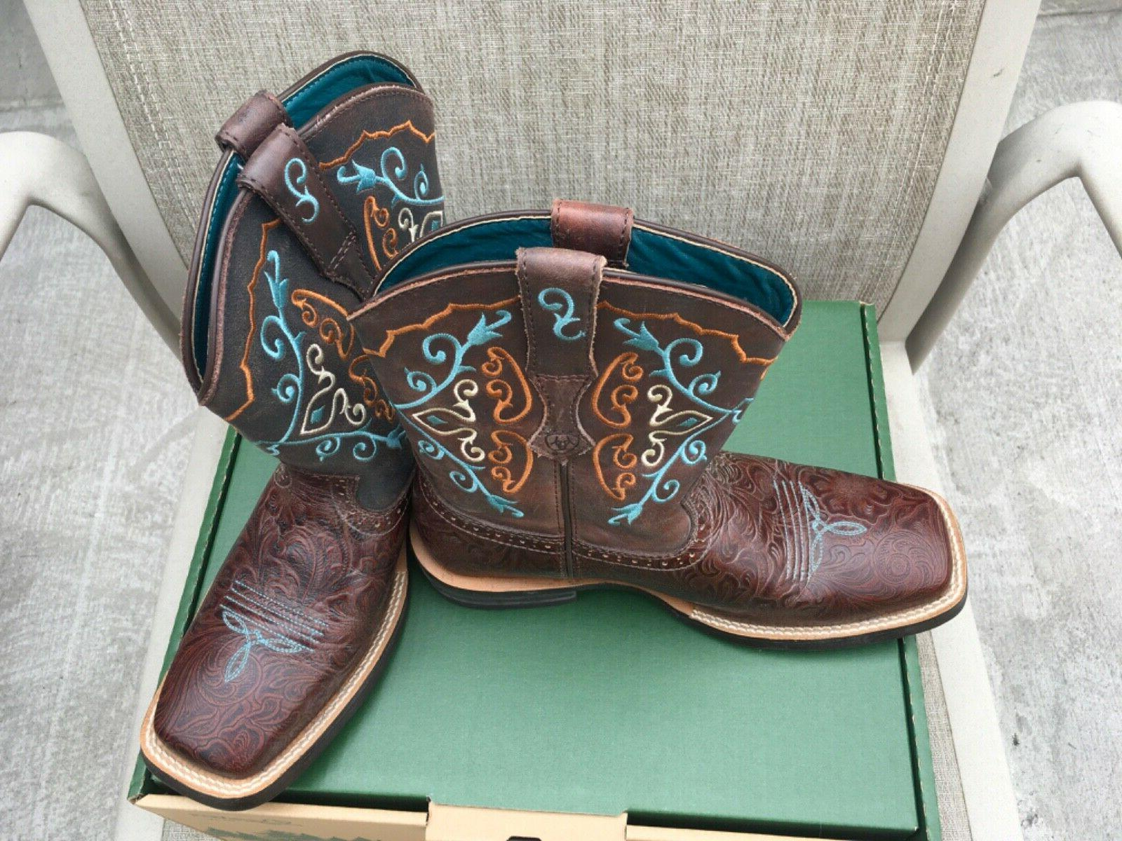 fatboy leather cowboy boots size 7 5