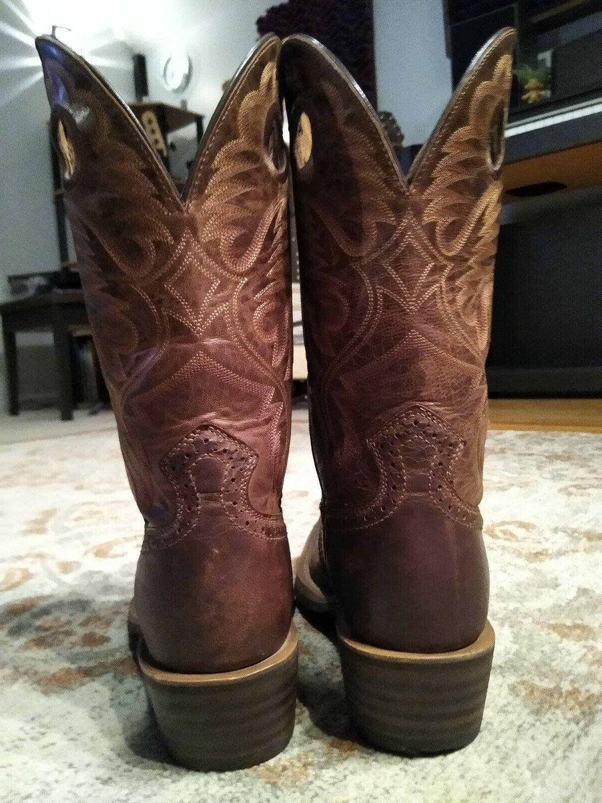 """ARIAT HERITAGE BROWN BULLHIDE LEATHER S 11"""" COWBOY BOOTS #10023360 8.5"""