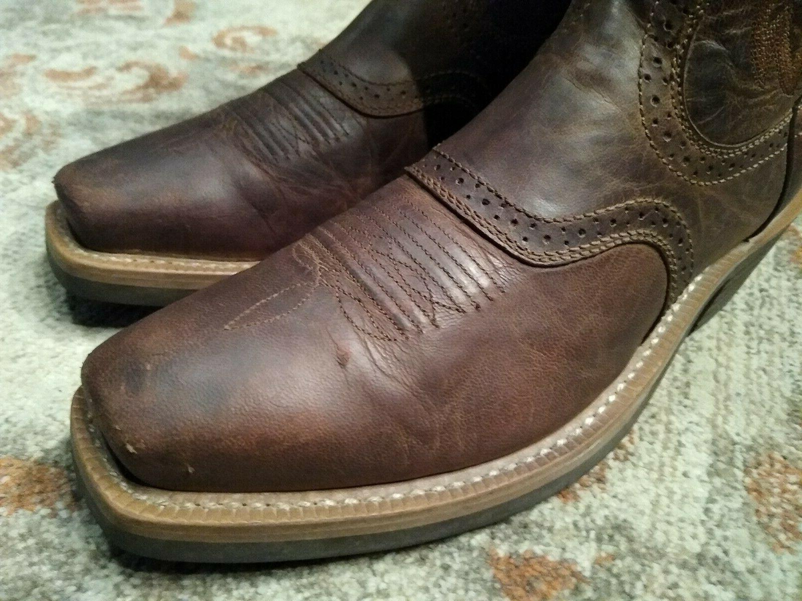 ARIAT LEATHER TOE COWBOY 8.5