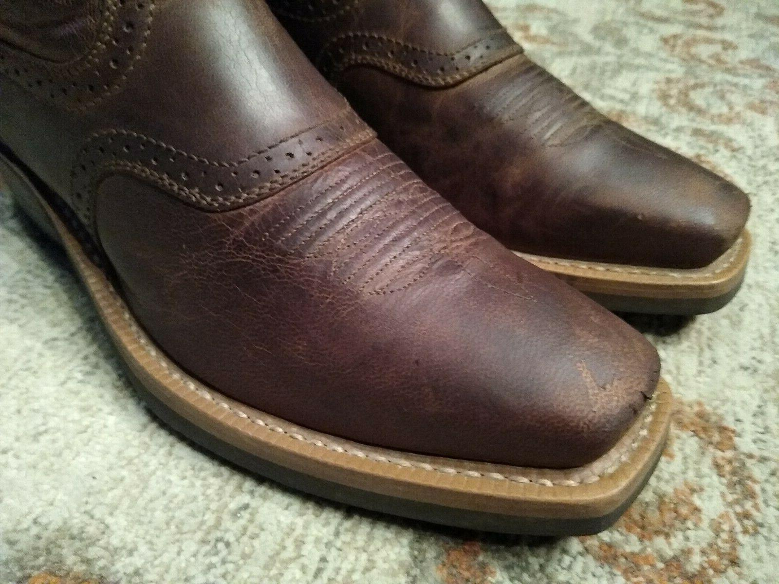 ARIAT BROWN LEATHER S COWBOY #10023360 8.5